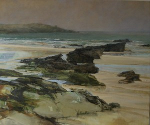 "Sarah Adams, Harlyn to Trevose: a march of rocks, oil on linen, 20"" x 24"""
